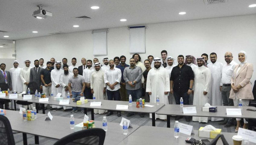 Newly recruited trainee engineers meet the president of Alghanim